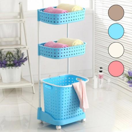 b8342ee49f9c laundry basket, 3-tier laundry basket, laundry basket on wheels